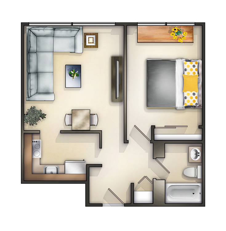 Chicago il apartments academy square floorplans - One bedroom apartments in chicago il ...